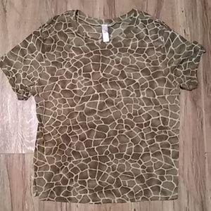 Victoria's secret giraffe print tshirt